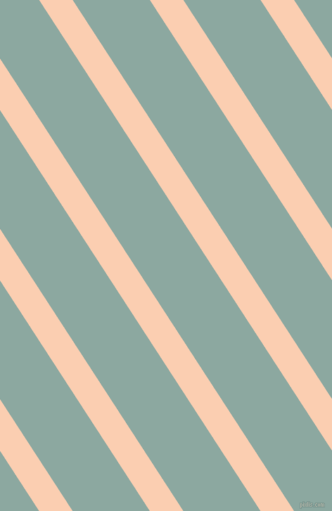 123 degree angle lines stripes, 40 pixel line width, 92 pixel line spacing, Apricot and Cascade angled lines and stripes seamless tileable