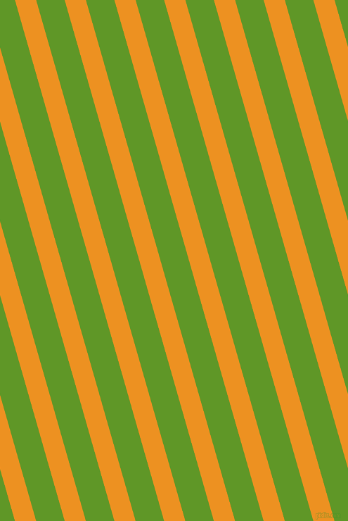 106 degree angle lines stripes, 29 pixel line width, 39 pixel line spacing, Carrot Orange and Limeade angled lines and stripes seamless tileable