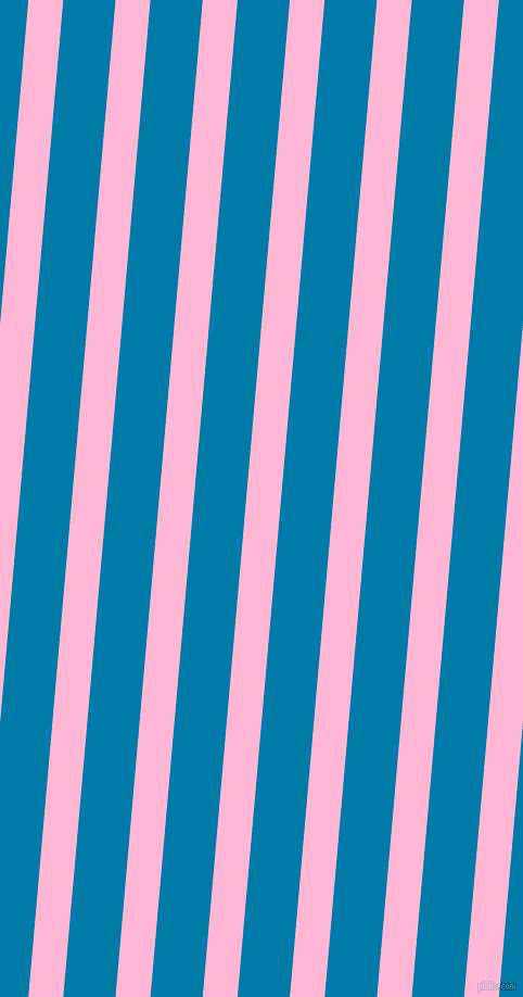 85 degree angle lines stripes, 32 pixel line width, 48 pixel line spacing, Cotton Candy and Cerulean angled lines and stripes seamless tileable