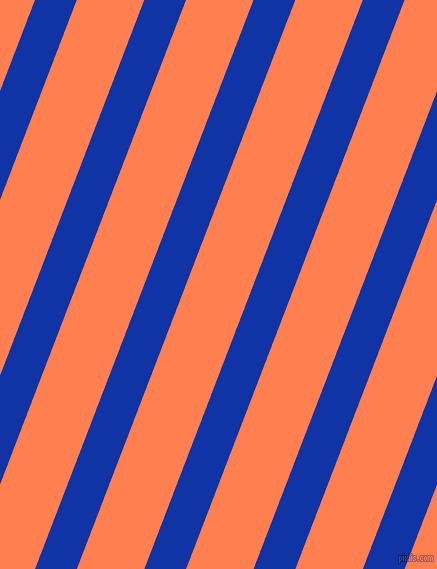 69 degree angle lines stripes, 39 pixel line width, 63 pixel line spacing, Egyptian Blue and Coral angled lines and stripes seamless tileable