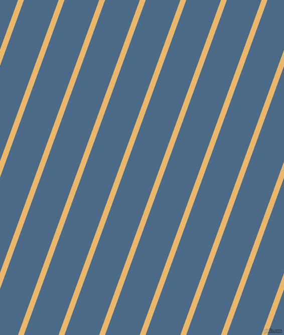 70 degree angle lines stripes, 11 pixel line width, 65 pixel line spacing, Harvest Gold and Wedgewood angled lines and stripes seamless tileable