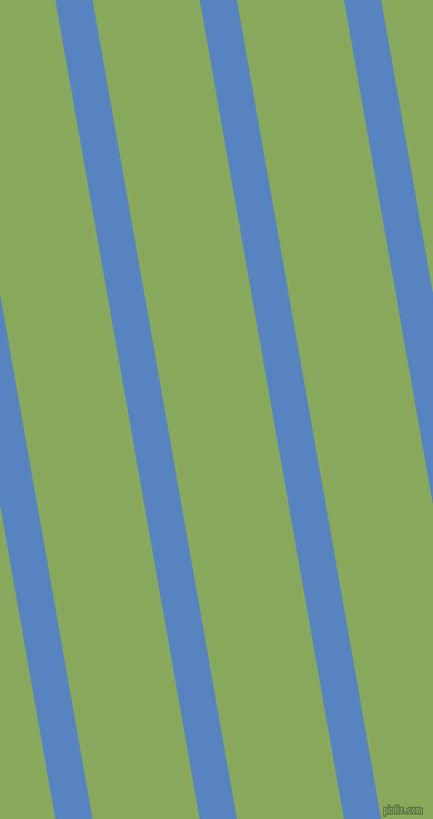 100 degree angle lines stripes, 33 pixel line width, 95 pixel line spacing, Havelock Blue and Chelsea Cucumber angled lines and stripes seamless tileable