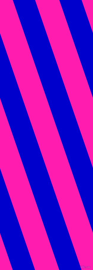 109 degree angle lines stripes, 71 pixel line width, 77 pixel line spacing, Medium Blue and Spicy Pink angled lines and stripes seamless tileable
