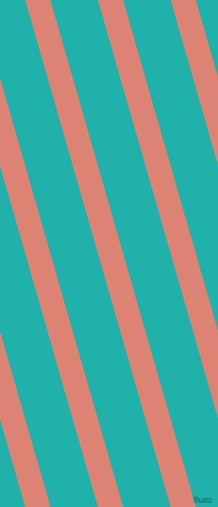 106 degree angle lines stripes, 35 pixel line width, 66 pixel line spacing, New York Pink and Light Sea Green angled lines and stripes seamless tileable