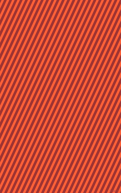 65 degree angle lines stripes, 9 pixel line width, 10 pixel line spacing, Outrageous Orange and Milano Red angled lines and stripes seamless tileable