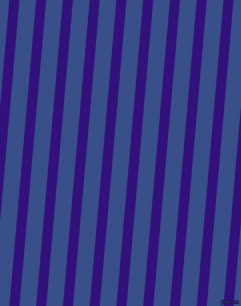 85 degree angle lines stripes, 20 pixel line width, 33 pixel line spacing, Persian Indigo and Tory Blue angled lines and stripes seamless tileable