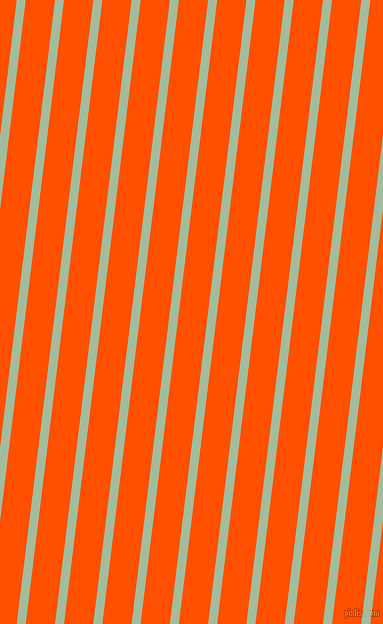 83 degree angle lines stripes, 9 pixel line width, 29 pixel line spacing, Spring Rain and International Orange angled lines and stripes seamless tileable