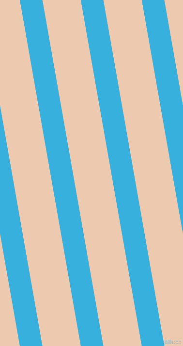 100 degree angle lines stripes, 46 pixel line width, 78 pixel line spacing, Summer Sky and Desert Sand angled lines and stripes seamless tileable