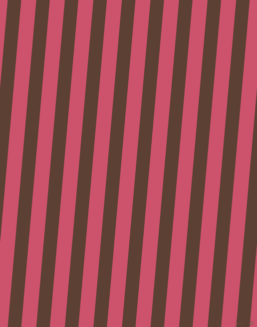 85 degree angle lines stripes, 27 pixel line width, 30 pixel line spacing, Very Dark Brown and Cabaret angled lines and stripes seamless tileable