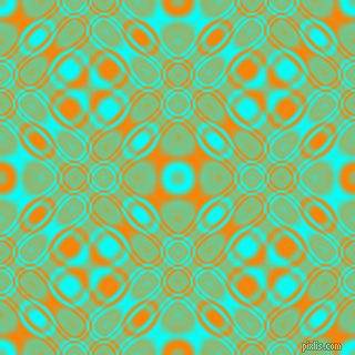 , Aqua and Dark Orange cellular plasma seamless tileable