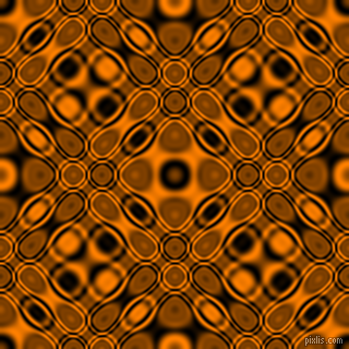 , Black and Dark Orange cellular plasma seamless tileable