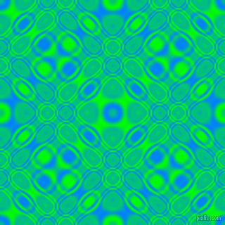 , Dodger Blue and Lime cellular plasma seamless tileable