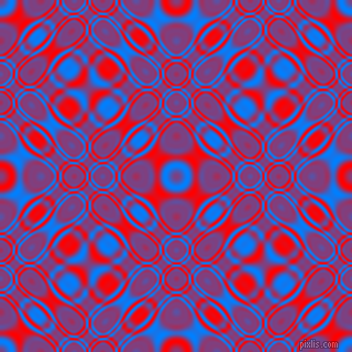 , Dodger Blue and Red cellular plasma seamless tileable