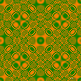 Green and Dark Orange cellular plasma seamless tileable