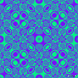 Spring Green and Electric Indigo cellular plasma seamless tileable