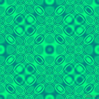 , Teal and Spring Green cellular plasma seamless tileable