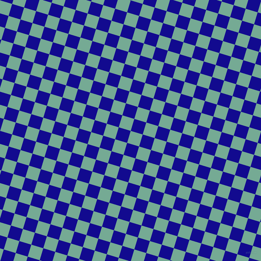 73/163 degree angle diagonal checkered chequered squares checker pattern checkers background, 40 pixel squares size, , Acapulco and Ultramarine checkers chequered checkered squares seamless tileable