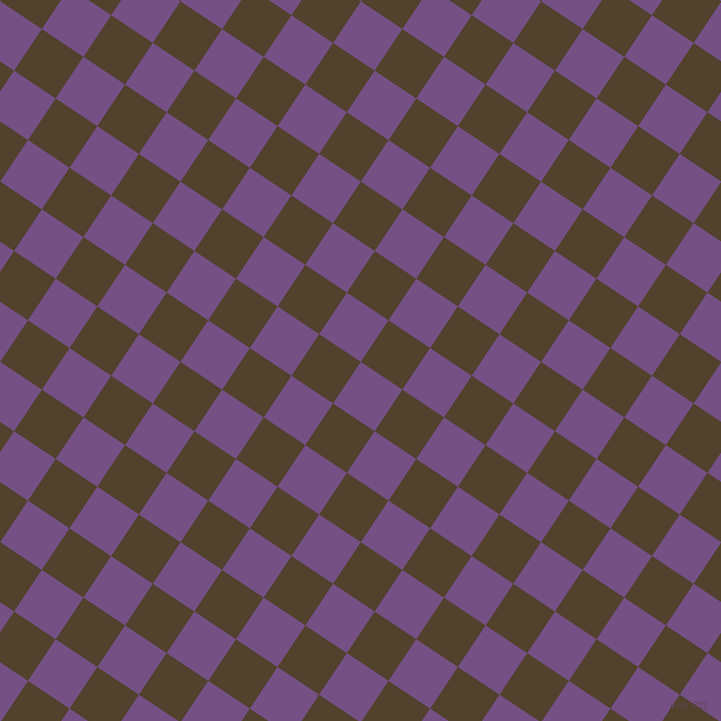 56/146 degree angle diagonal checkered chequered squares checker pattern checkers background, 50 pixel square size, , Affair and Deep Bronze checkers chequered checkered squares seamless tileable