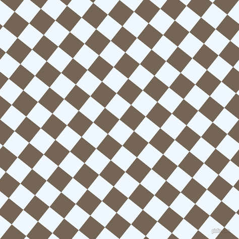 51/141 degree angle diagonal checkered chequered squares checker pattern checkers background, 37 pixel squares size, , Alice Blue and Pine Cone checkers chequered checkered squares seamless tileable