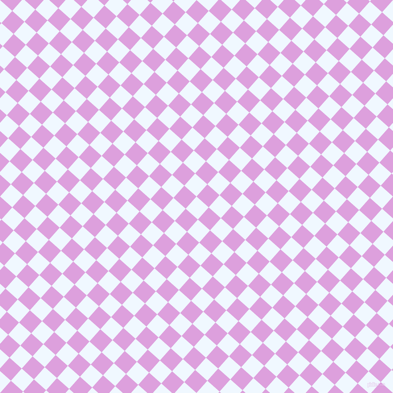 48/138 degree angle diagonal checkered chequered squares checker pattern checkers background, 33 pixel squares size, , Alice Blue and Plum checkers chequered checkered squares seamless tileable