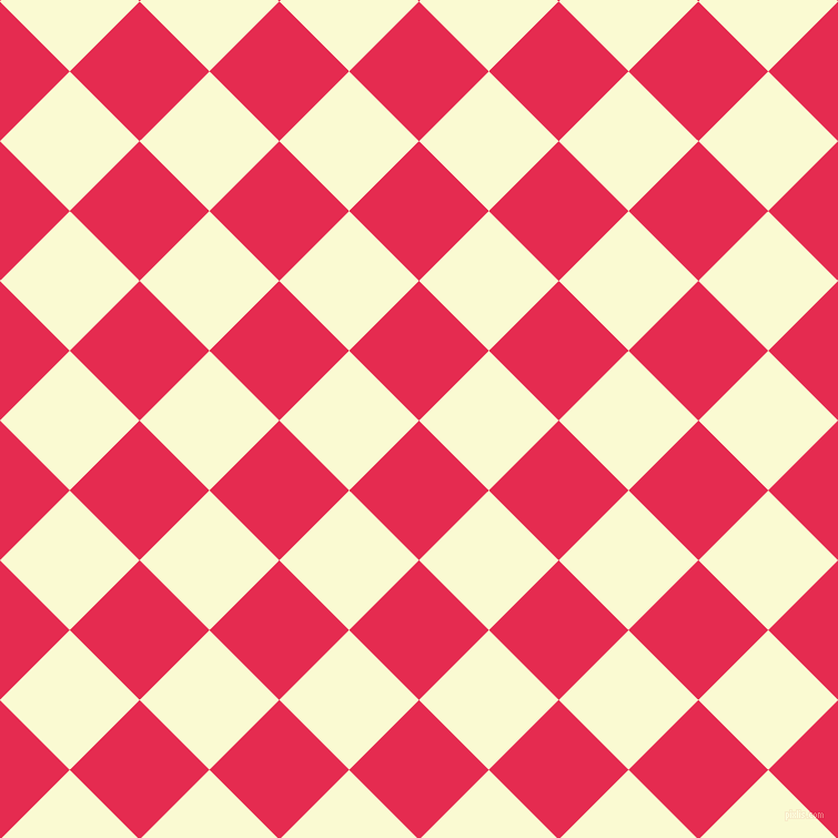 45/135 degree angle diagonal checkered chequered squares checker pattern checkers background, 89 pixel square size, , Amaranth and Light Goldenrod Yellow checkers chequered checkered squares seamless tileable