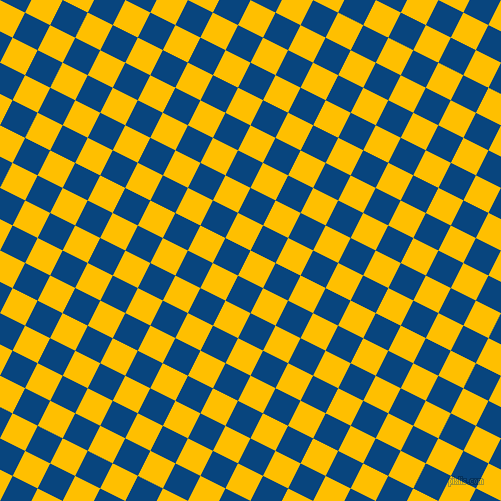 63/153 degree angle diagonal checkered chequered squares checker pattern checkers background, 28 pixel squares size, , Amber and Dark Cerulean checkers chequered checkered squares seamless tileable