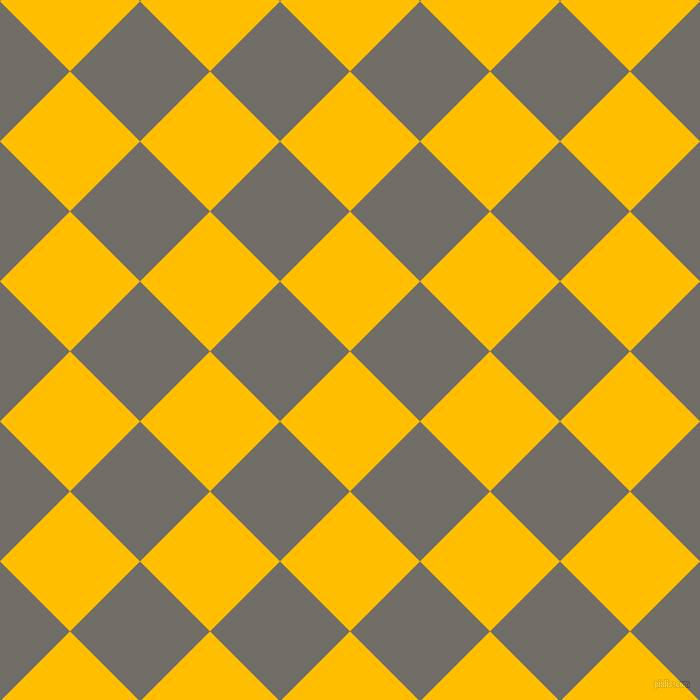 45/135 degree angle diagonal checkered chequered squares checker pattern checkers background, 99 pixel squares size, , Amber and Ironside Grey checkers chequered checkered squares seamless tileable