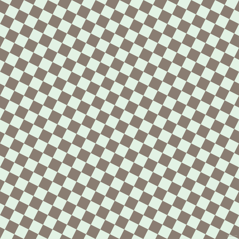63/153 degree angle diagonal checkered chequered squares checker pattern checkers background, 36 pixel squares size, , Americano and Frosted Mint checkers chequered checkered squares seamless tileable