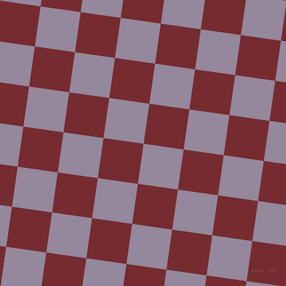 82/172 degree angle diagonal checkered chequered squares checker pattern checkers background, 59 pixel square size, , Amethyst Smoke and Tamarillo checkers chequered checkered squares seamless tileable