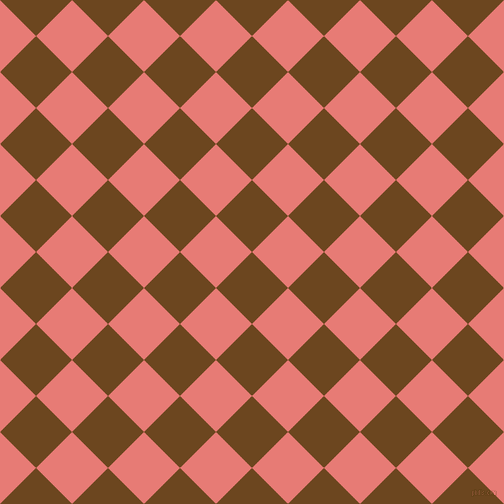 45/135 degree angle diagonal checkered chequered squares checker pattern checkers background, 72 pixel squares size, , Antique Brass and Geraldine checkers chequered checkered squares seamless tileable