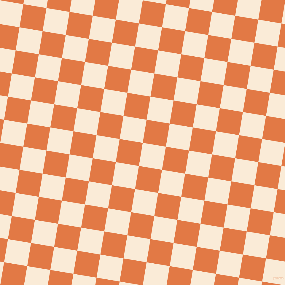 81/171 degree angle diagonal checkered chequered squares checker pattern checkers background, 79 pixel square size, , Antique White and Jaffa checkers chequered checkered squares seamless tileable