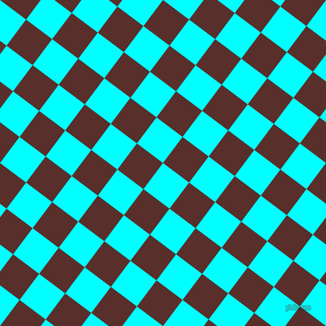 53/143 degree angle diagonal checkered chequered squares checker pattern checkers background, 46 pixel squares size, , Aqua and Moccaccino checkers chequered checkered squares seamless tileable