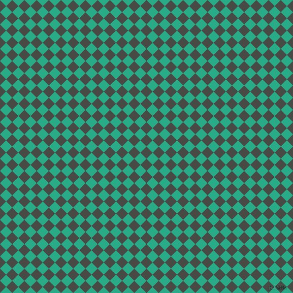 45/135 degree angle diagonal checkered chequered squares checker pattern checkers background, 17 pixel square size, , Armadillo and Jungle Green checkers chequered checkered squares seamless tileable