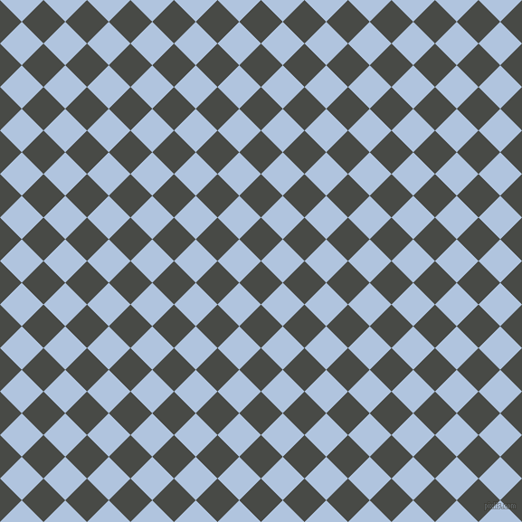 45/135 degree angle diagonal checkered chequered squares checker pattern checkers background, 34 pixel squares size, , Armadillo and Light Steel Blue checkers chequered checkered squares seamless tileable
