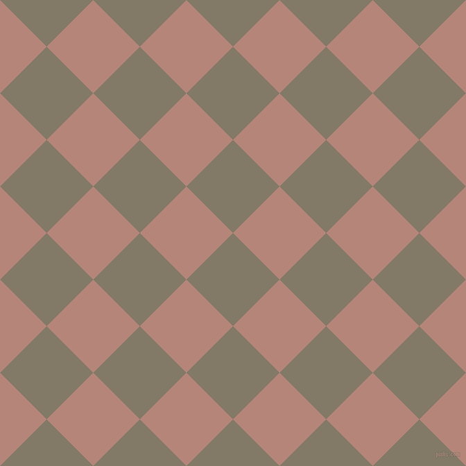 45/135 degree angle diagonal checkered chequered squares checker pattern checkers background, 95 pixel squares size, , Arrowtown and Brandy Rose checkers chequered checkered squares seamless tileable