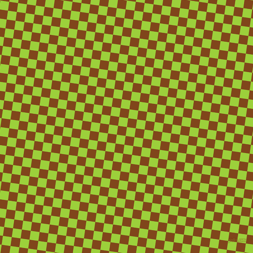 82/172 degree angle diagonal checkered chequered squares checker pattern checkers background, 18 pixel squares size, , Atlantis and Russet checkers chequered checkered squares seamless tileable