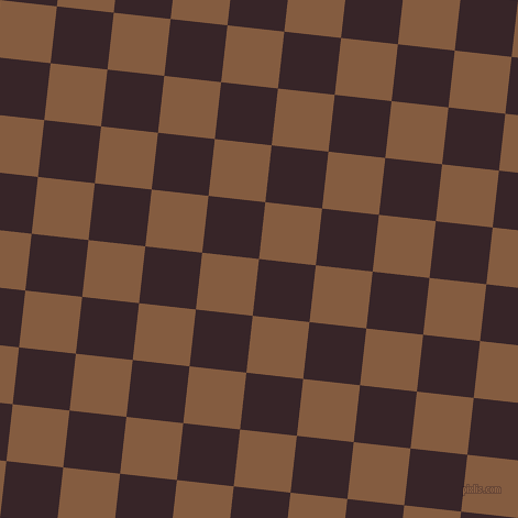 84/174 degree angle diagonal checkered chequered squares checker pattern checkers background, 52 pixel square size, , Aubergine and Potters Clay checkers chequered checkered squares seamless tileable