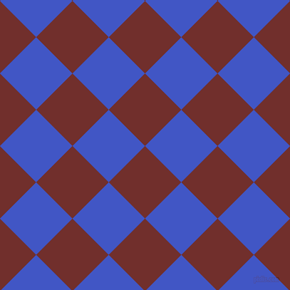 45/135 degree angle diagonal checkered chequered squares checker pattern checkers background, 72 pixel square size, Auburn and Free Speech Blue checkers chequered checkered squares seamless tileable