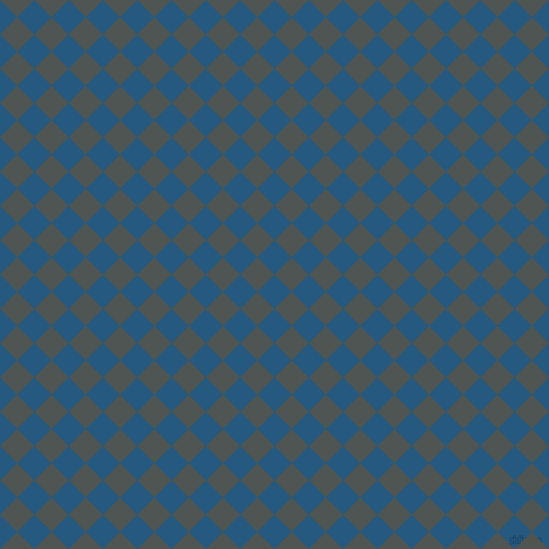 45/135 degree angle diagonal checkered chequered squares checker pattern checkers background, 27 pixel squares size, , Bahama Blue and Cape Cod checkers chequered checkered squares seamless tileable