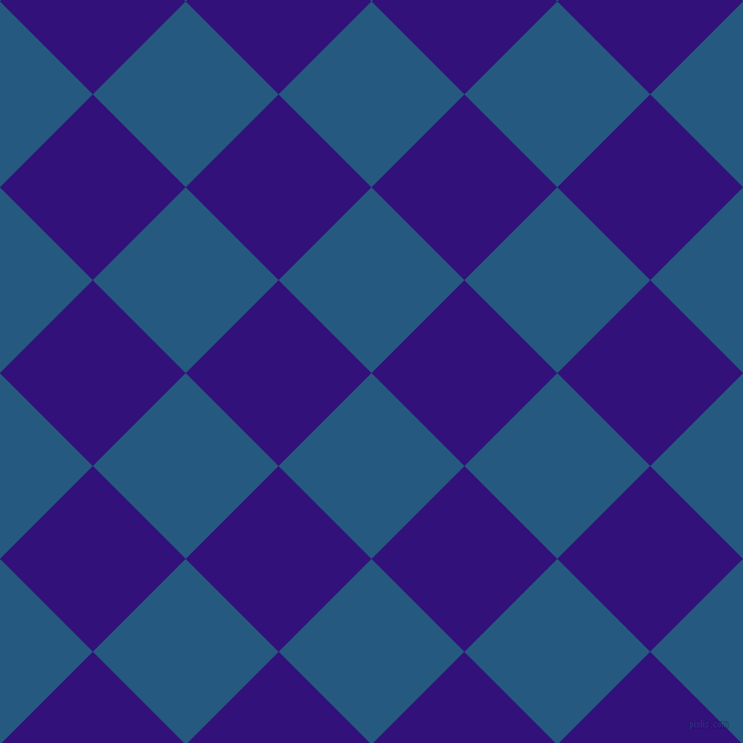 45/135 degree angle diagonal checkered chequered squares checker pattern checkers background, 119 pixel square size, , Bahama Blue and Persian Indigo checkers chequered checkered squares seamless tileable