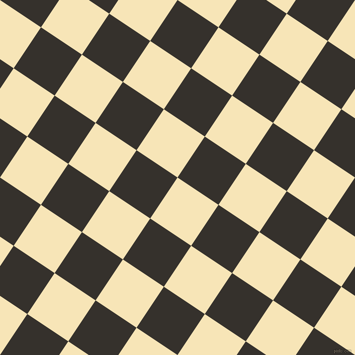 56/146 degree angle diagonal checkered chequered squares checker pattern checkers background, 99 pixel square size, , Barley White and Acadia checkers chequered checkered squares seamless tileable