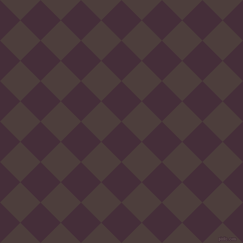 45/135 degree angle diagonal checkered chequered squares checker pattern checkers background, 57 pixel squares size, , Barossa and Crater Brown checkers chequered checkered squares seamless tileable