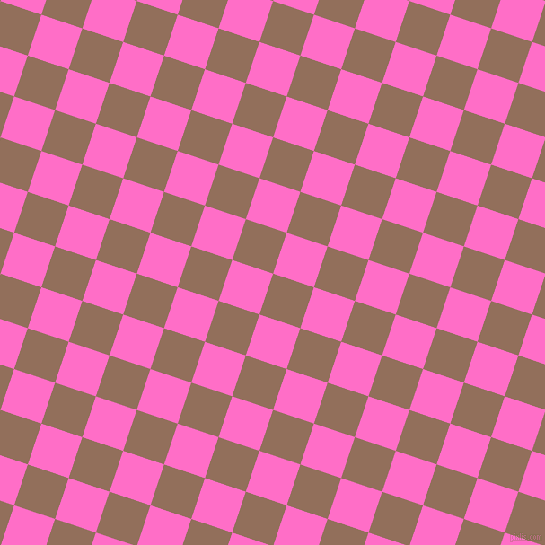 72/162 degree angle diagonal checkered chequered squares checker pattern checkers background, 48 pixel square size, , Beaver and Neon Pink checkers chequered checkered squares seamless tileable