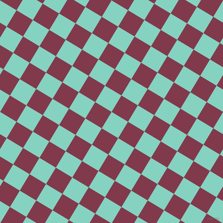 59/149 degree angle diagonal checkered chequered squares checker pattern checkers background, 65 pixel square size, Bermuda and Camelot checkers chequered checkered squares seamless tileable