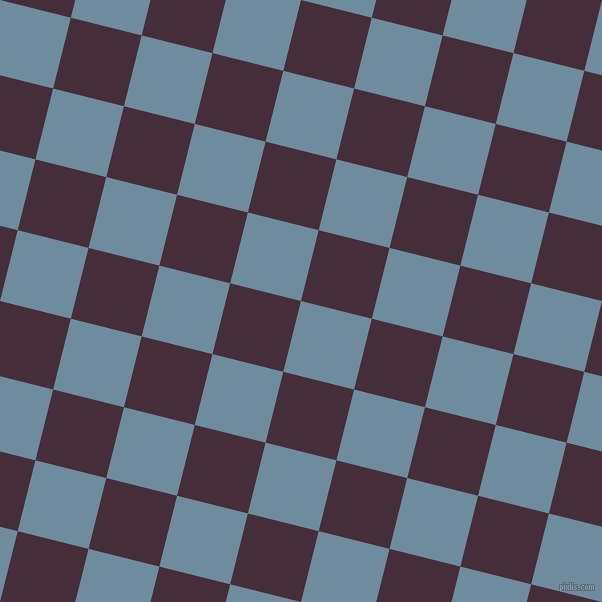 76/166 degree angle diagonal checkered chequered squares checker pattern checkers background, 73 pixel squares size, , Bermuda Grey and Barossa checkers chequered checkered squares seamless tileable