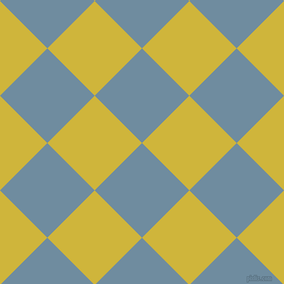 45/135 degree angle diagonal checkered chequered squares checker pattern checkers background, 95 pixel squares size, , Bermuda Grey and Old Gold checkers chequered checkered squares seamless tileable