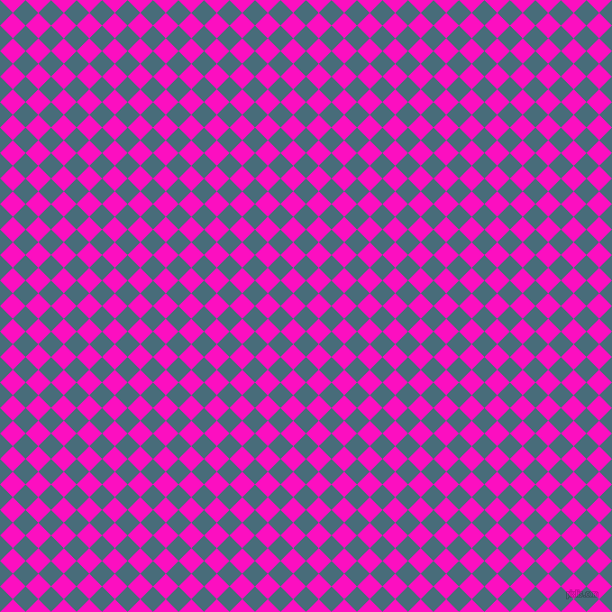 45/135 degree angle diagonal checkered chequered squares checker pattern checkers background, 20 pixel squares size, , Bismark and Shocking Pink checkers chequered checkered squares seamless tileable