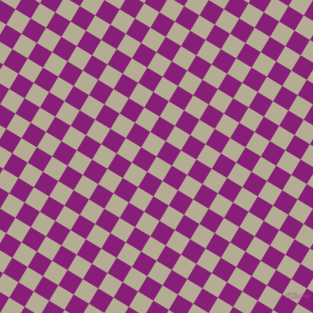 59/149 degree angle diagonal checkered chequered squares checker pattern checkers background, 26 pixel square size, , Bison Hide and Dark Purple checkers chequered checkered squares seamless tileable