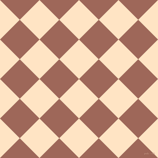 45/135 degree angle diagonal checkered chequered squares checker pattern checkers background, 94 pixel squares size, , Bisque and Au Chico checkers chequered checkered squares seamless tileable