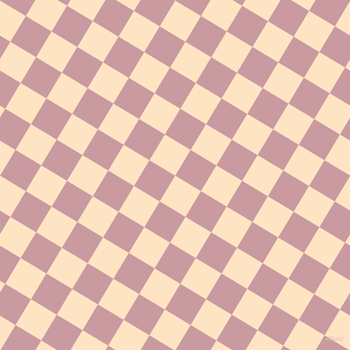 59/149 degree angle diagonal checkered chequered squares checker pattern checkers background, 61 pixel squares size, , Bisque and Careys Pink checkers chequered checkered squares seamless tileable